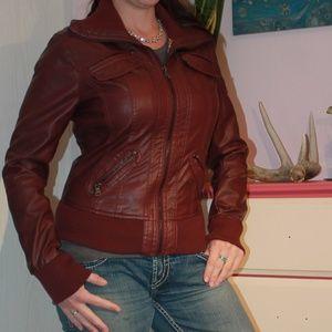 Ci Sono Jackets & Coats - CI Sono Vegan Leather Pleather Jacket